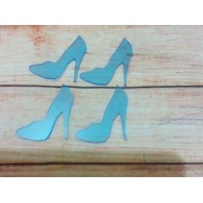 Acrylic Transparent Blue shoe